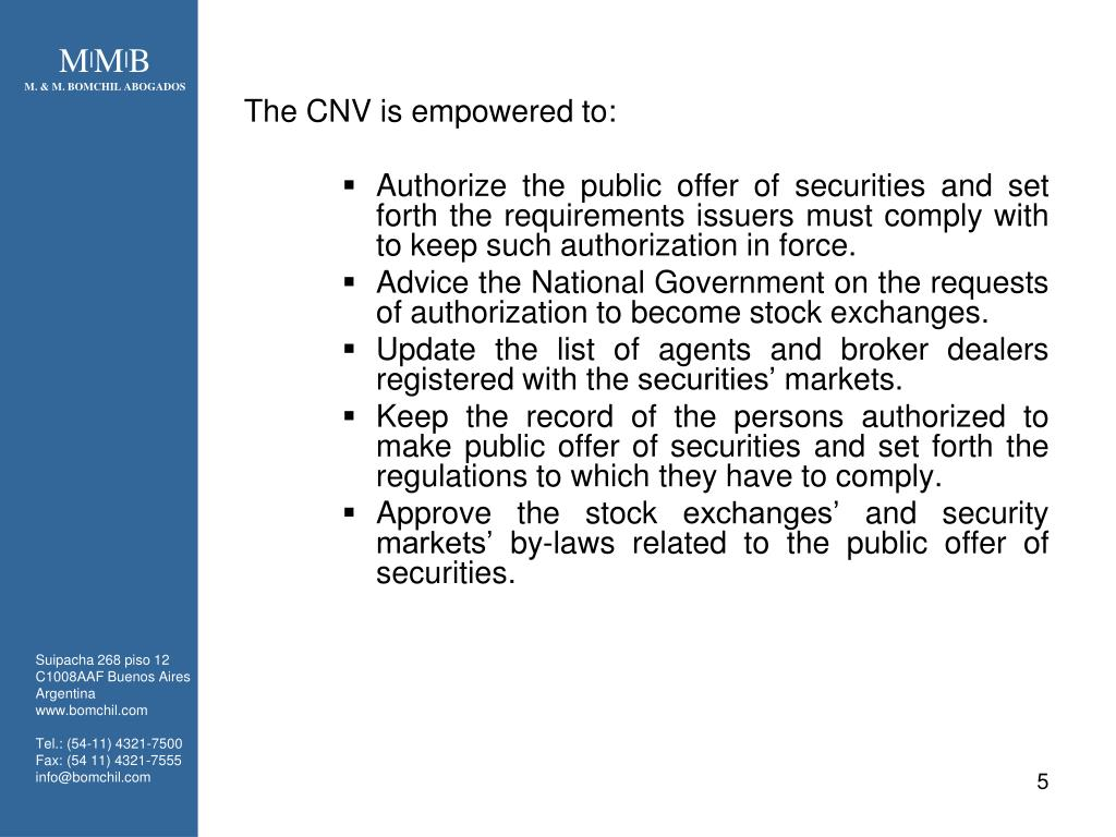 The CNV is empowered to:
