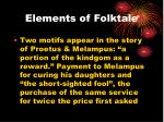 elements of folktale