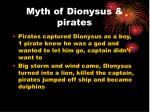 myth of dionysus pirates