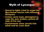 myth of lycurgus