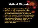 myth of minyads