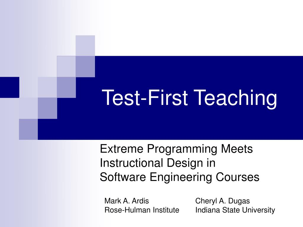 test first teaching l.