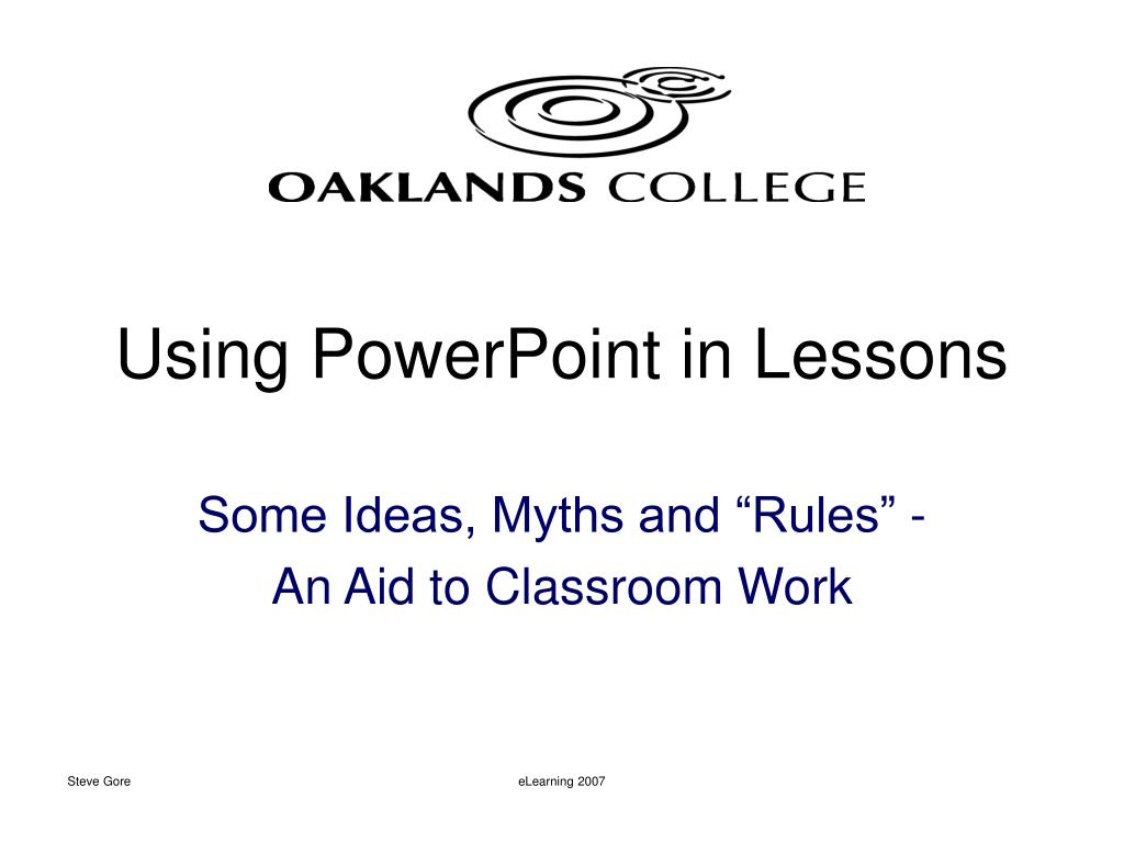 using powerpoint in lessons l.