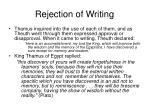 rejection of writing