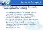 academic example 2