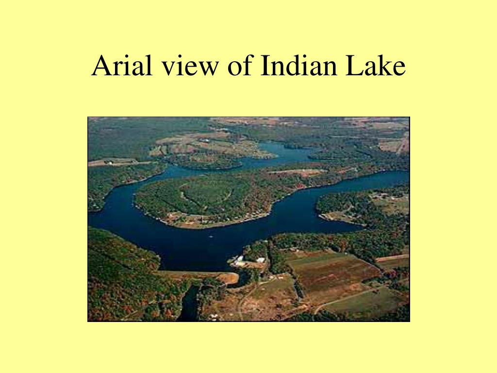arial view of indian lake l.