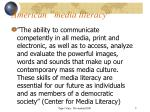 american media literacy