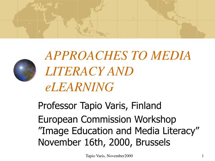 approaches to media literacy and elearning n.