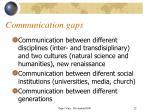 communication gaps