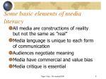 some basic elements of media literacy