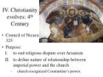 iv christianity evolves 4 th century22