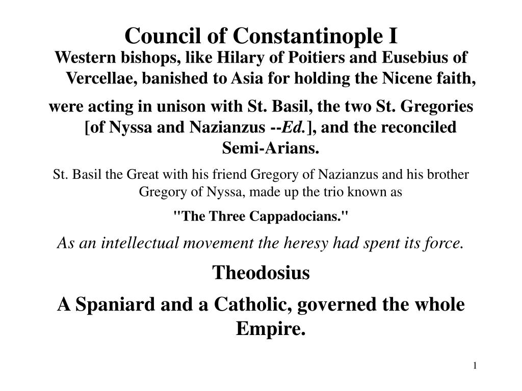 council of constantinople i l.
