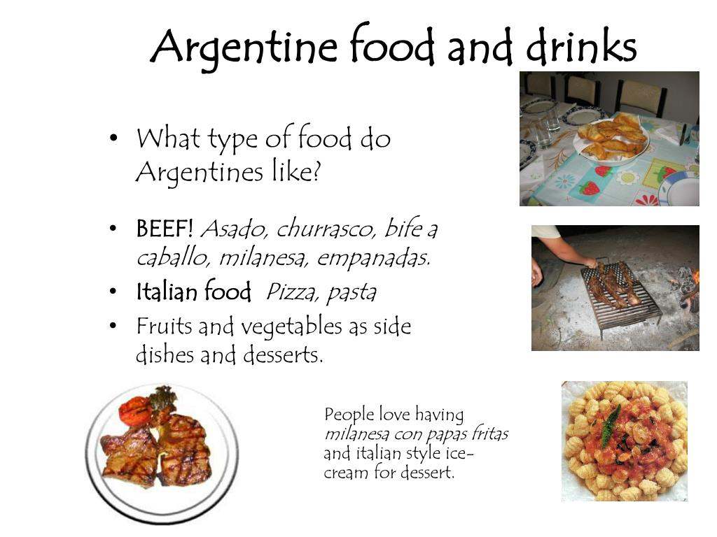 Argentine food and drinks