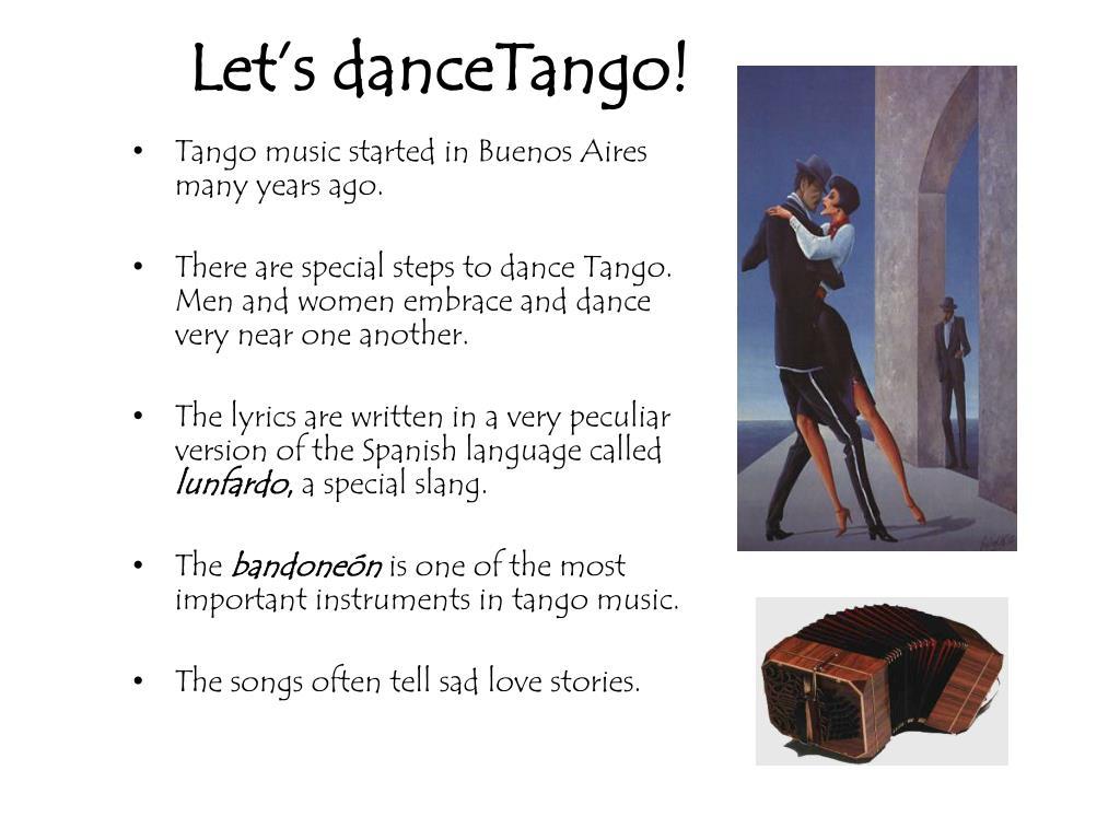 Let's danceTango!