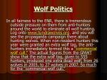 wolf politics