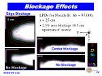 blockage effects