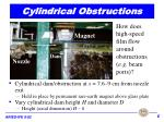 cylindrical obstructions
