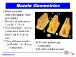nozzle geometries