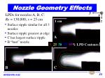 nozzle geometry effects