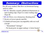 summary obstructions