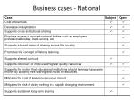 business cases national