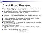 check fraud examples