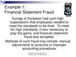 example 1 financial statement fraud
