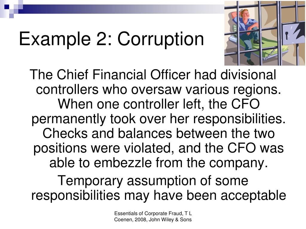 Example 2: Corruption