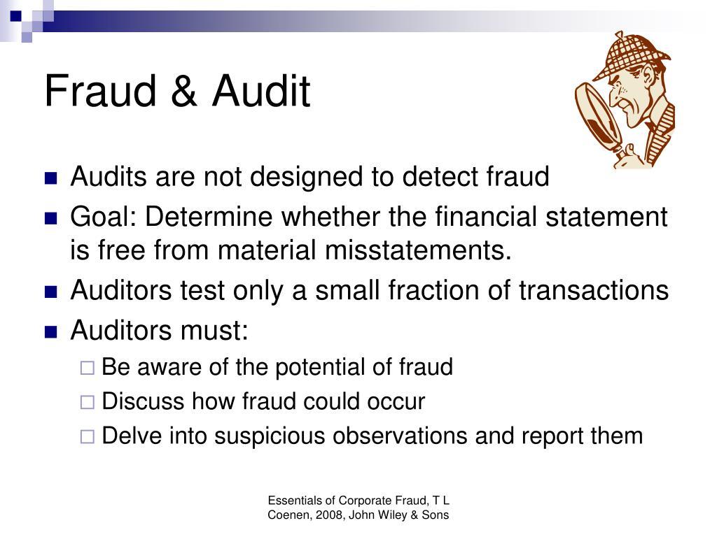 Fraud & Audit