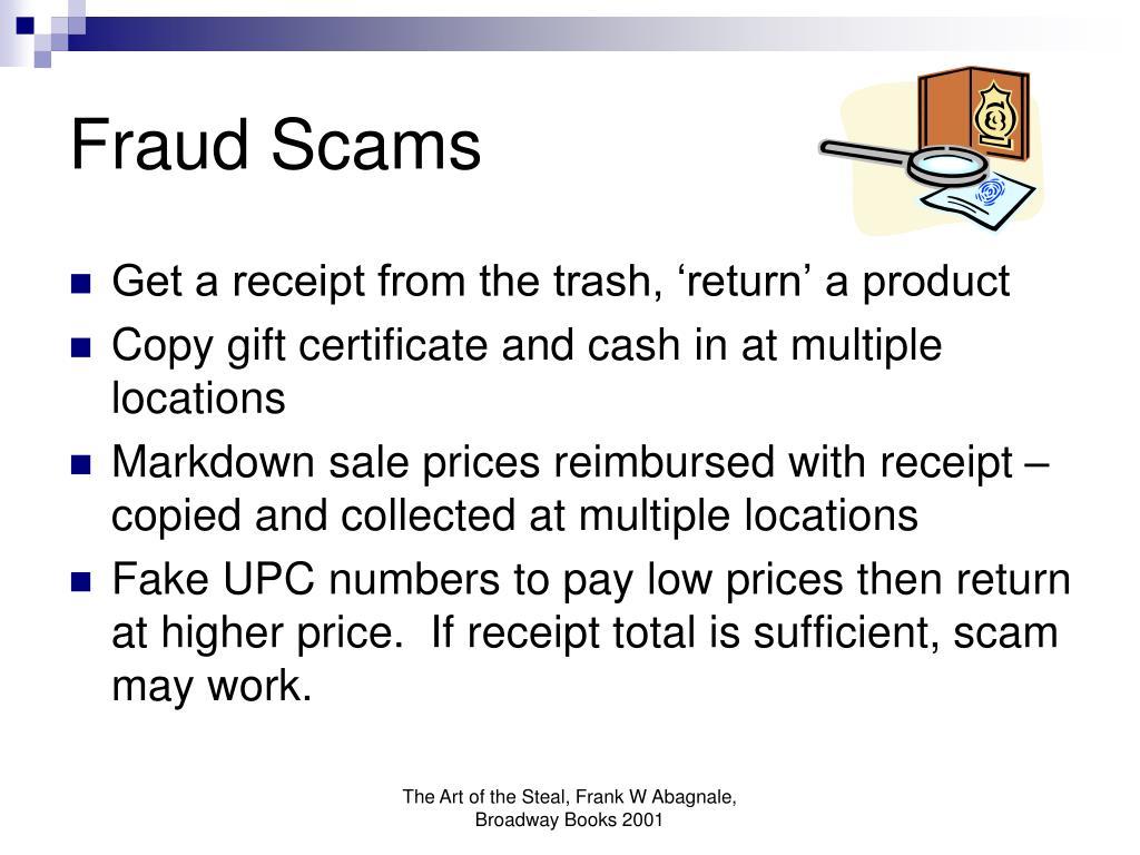Fraud Scams
