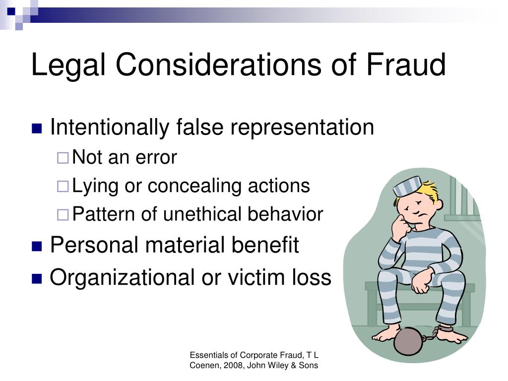 Legal Considerations of Fraud