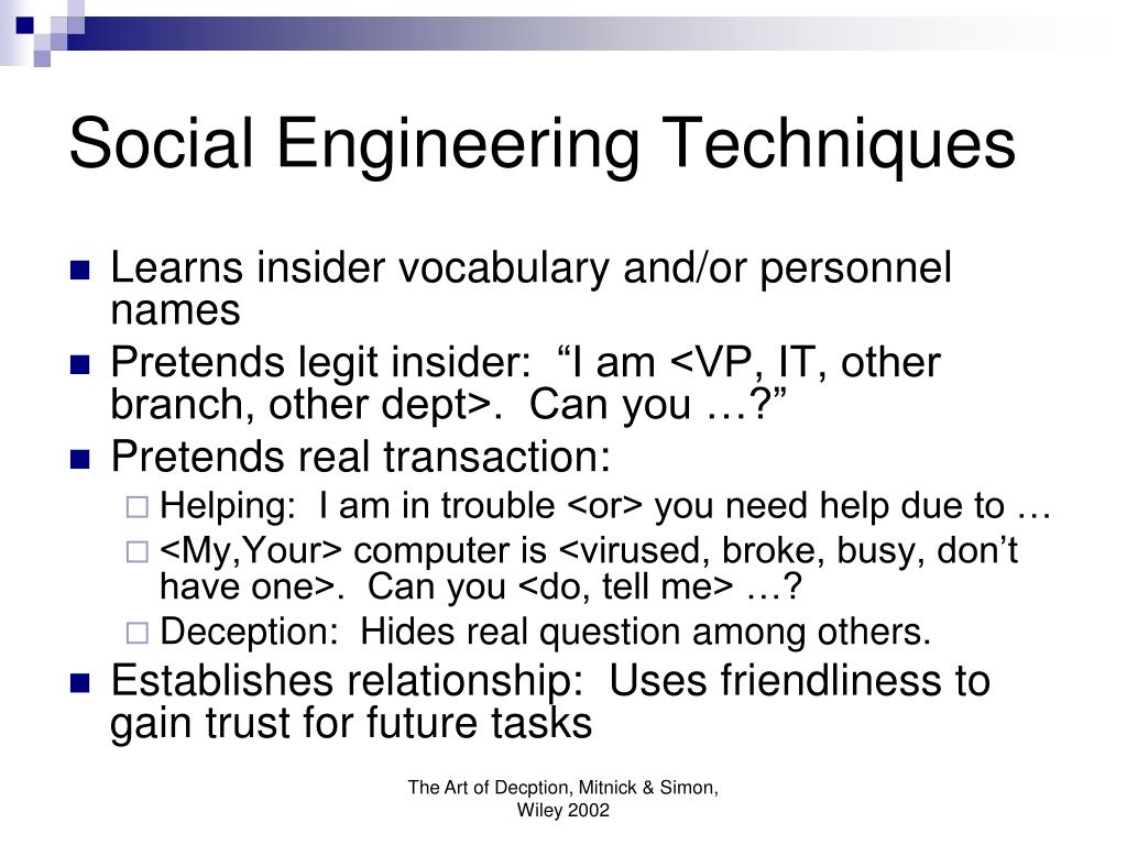 Social Engineering Techniques