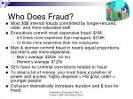 who does fraud