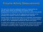 enzyme activity measurements