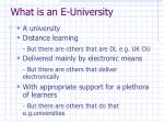 what is an e university
