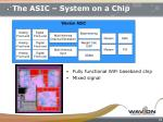 the asic system on a chip