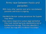arms race between hosts and parasites69