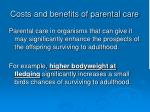 costs and benefits of parental care7