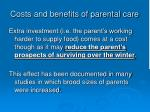 costs and benefits of parental care8
