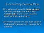 discriminating parental care33