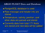argo float data and database