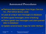 automated procedures