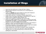 installation of rings