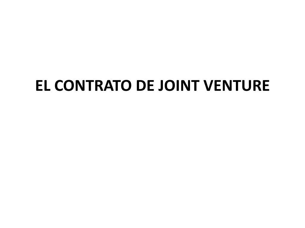 el contrato de joint venture l.