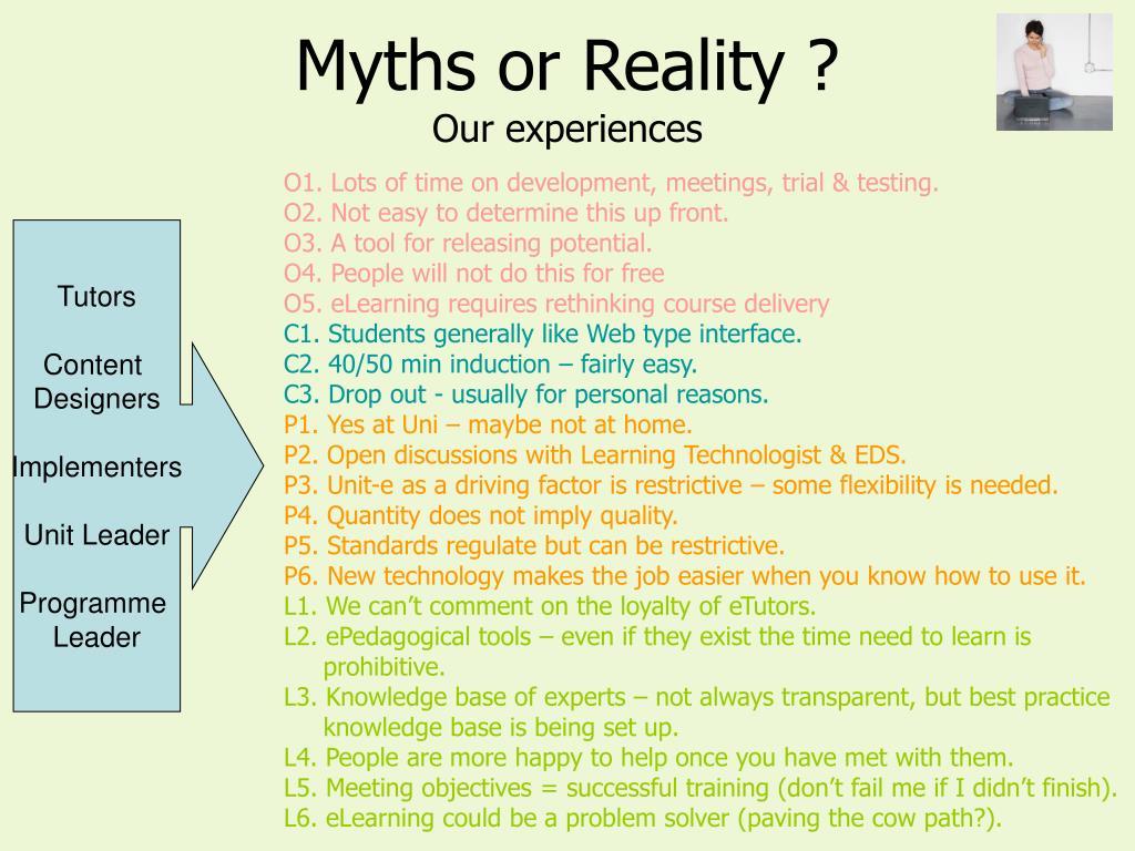 Myths or Reality ?