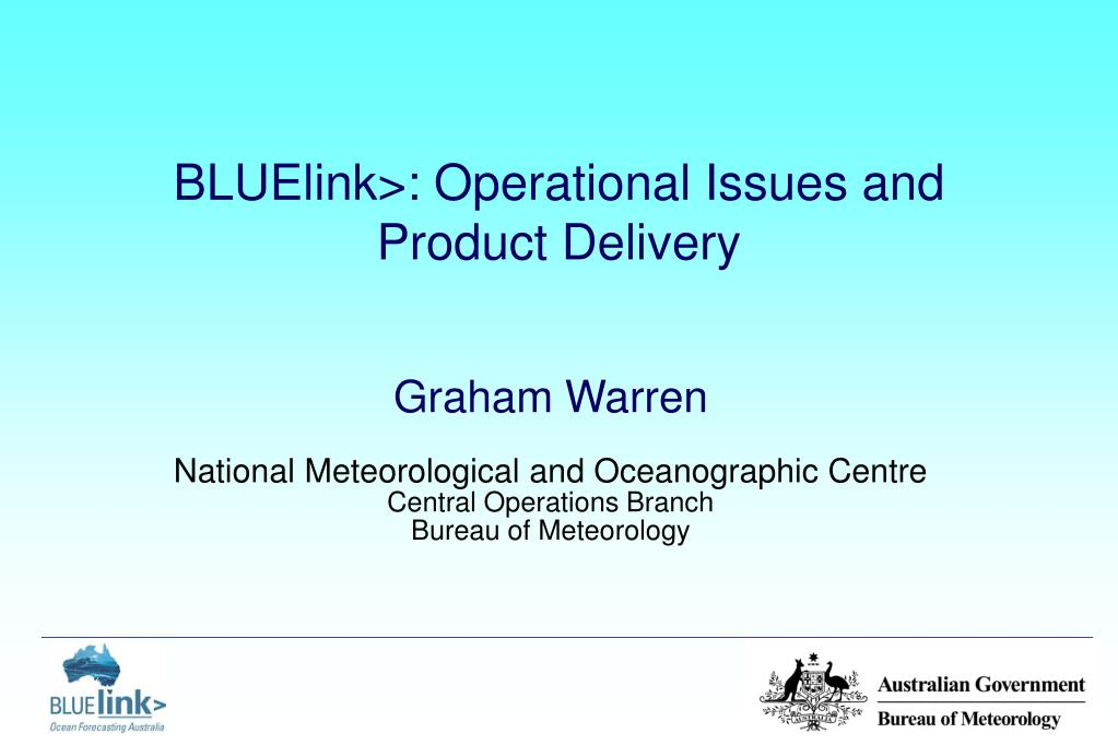 bluelink operational issues and product delivery l.