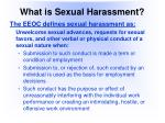 what is sexual harassment