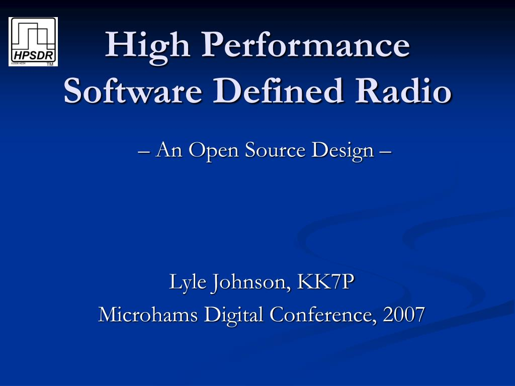 high performance software defined radio l.