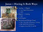 janus having it both ways