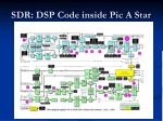 sdr dsp code inside pic a star